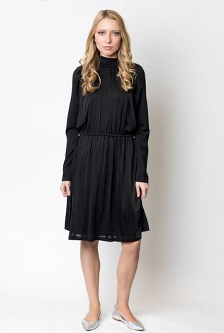 The Lines In Between Gathered Front Ponte Shift Dress