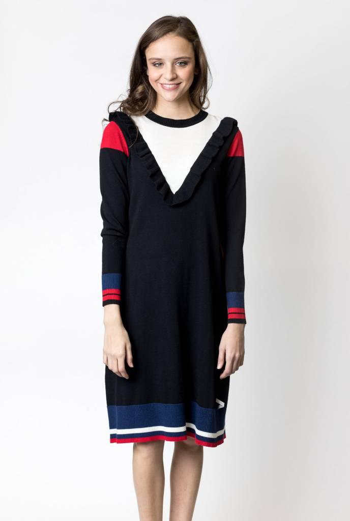 Weekend Colorblock Knit Shift Dress