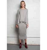 Third Third Midi SWEATER Skirt