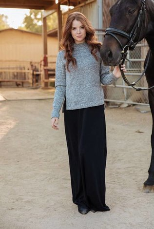 Go Couture Two Piece Sweater Maxi