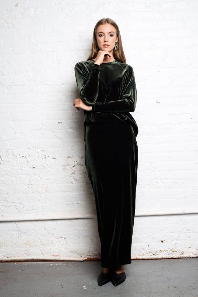 Third Velvet Illusion Maxi Dress
