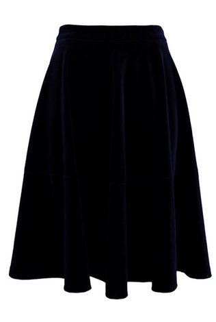 Lucy Paris Midnight Velvet Skirt