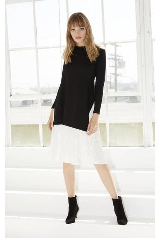 Go Couture Velvet Pleated Dress