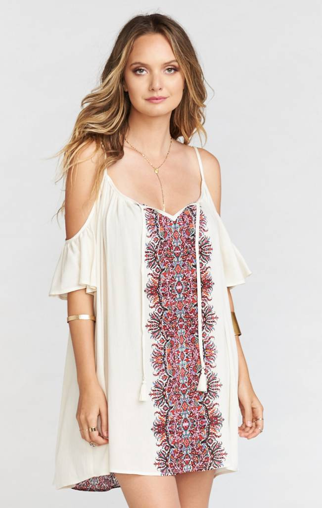 SHOW ME YOUR MUMU BONNAROO DRESS ISLAND FEVER CLOUD