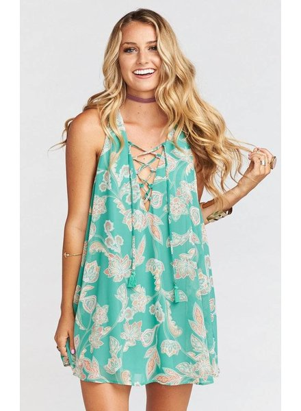SHOW ME YOUR MUMU RANCHO MIRAGE LACE UP: JADELY PAISLEY