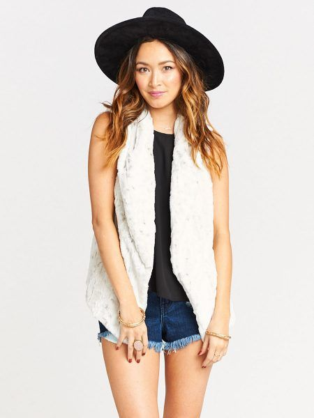 SHOW ME YOUR MUMU FAUSTA FUR VEST