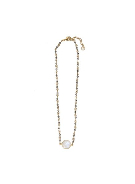 BEAUCOUP DESIGNS LUXE CHOKER MOONSTONE