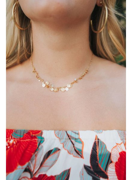 ROOST BRASS BIB NECKLACE
