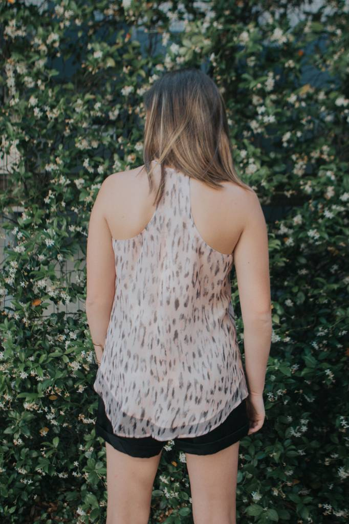 LAVENDER BROWN RACER BACK TANK
