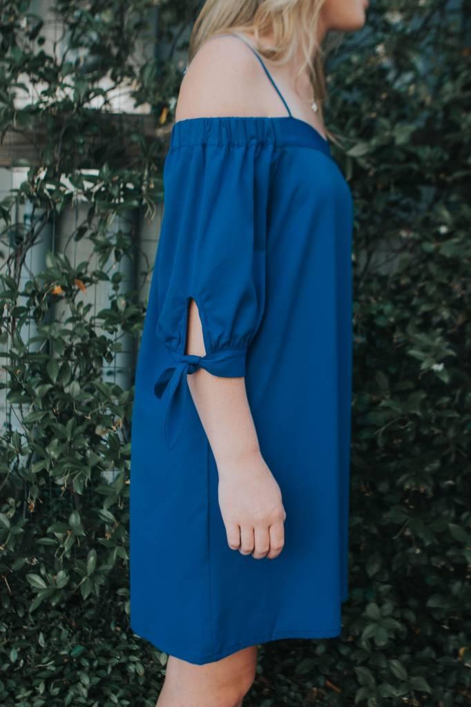 Jade OFF SLDR TIE SLV DRESS