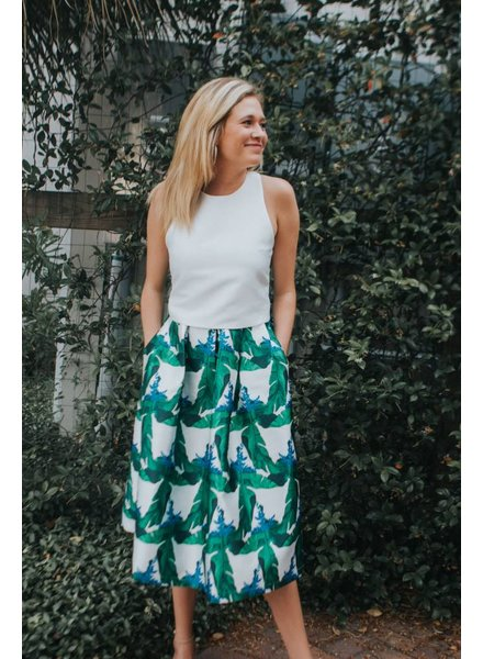 BLAQUE LABEL PRINTED MIDI SKIRT
