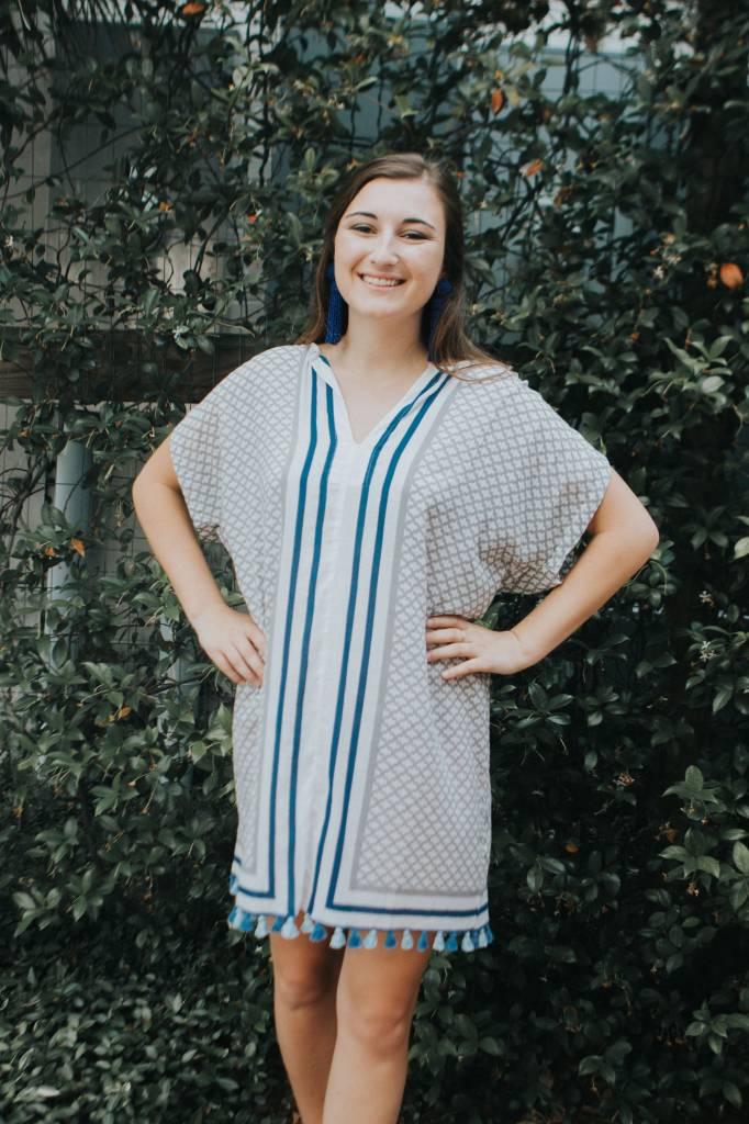 Karlie TISSUE TASSEL DRESS