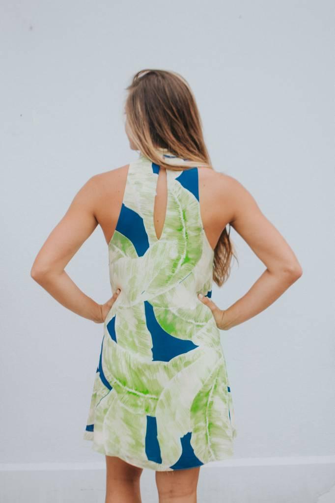 Karlie TROPICAL LEAF CHOKER DRESS