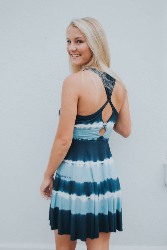 OCEAN DRIVE TYE DYE CUT OUT DRESS