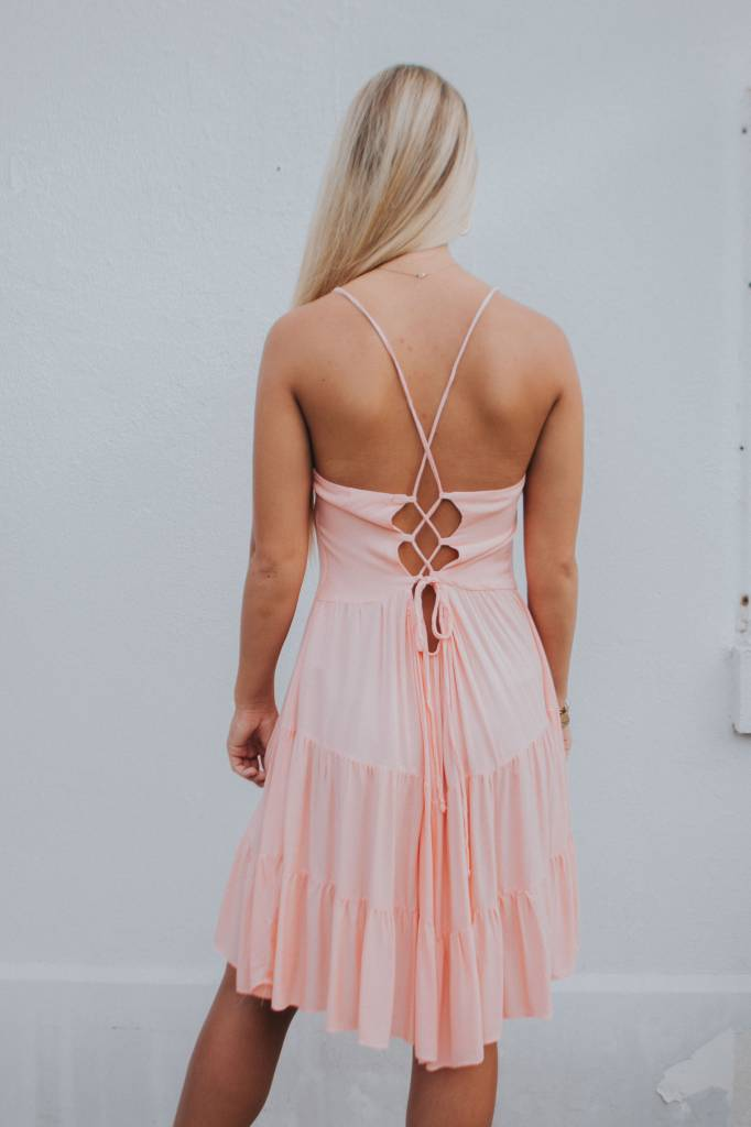 ON THE ROAD LACE UP BACK DRESS