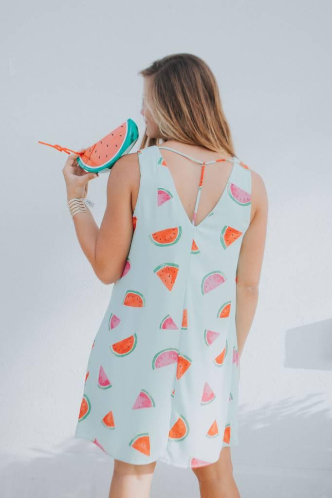 Everly SLEEVELESS WATERMELON PRINT SHIFT DRESS