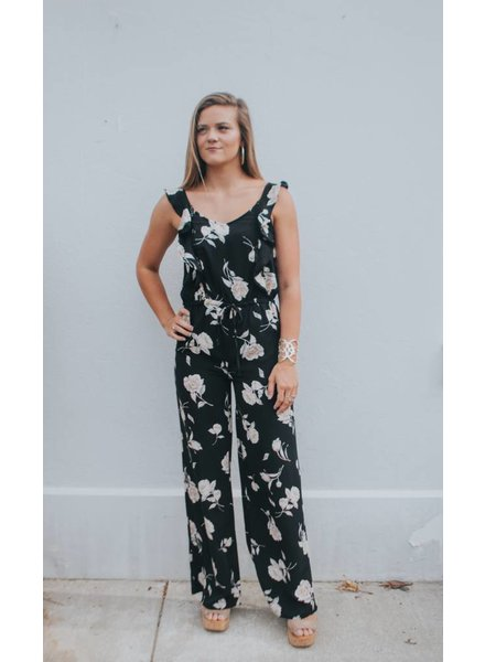 Blu Pepper RUFFLED FLORAL JUMPSUIT