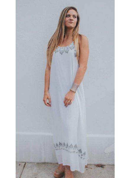 AMERICA & BEYOND COTTON EMB DRESS