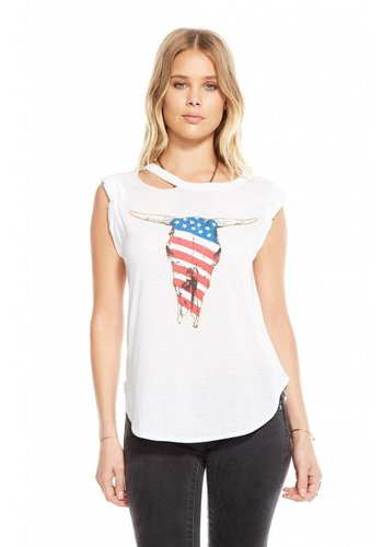 AMERICAN SKULL SHIRTTAIL MUSCLE TEE