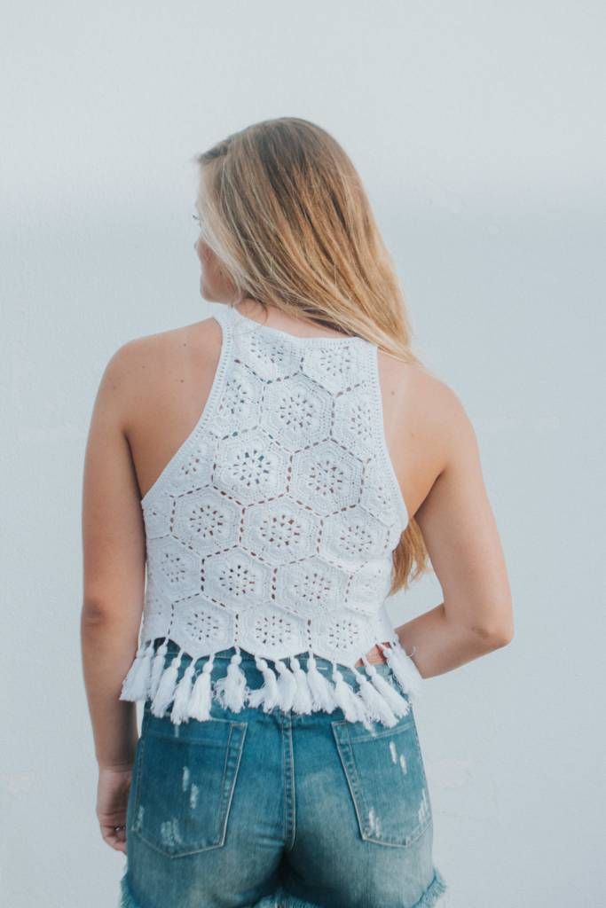 SHOW ME YOUR MUMU EMMYLOU CROCHET TOP