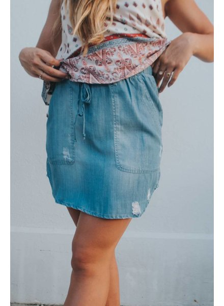 laju PULL ON DENIM SKIRT