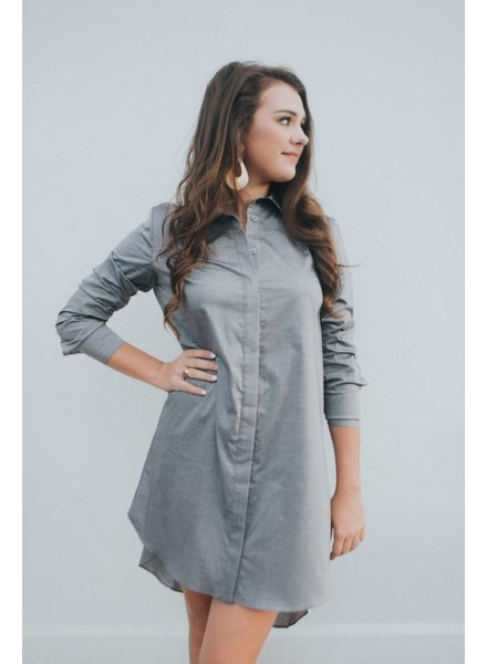 MILLY LONG SLEEVE SHIRTDRESS