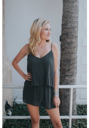 WASHED TIERED ROMPER