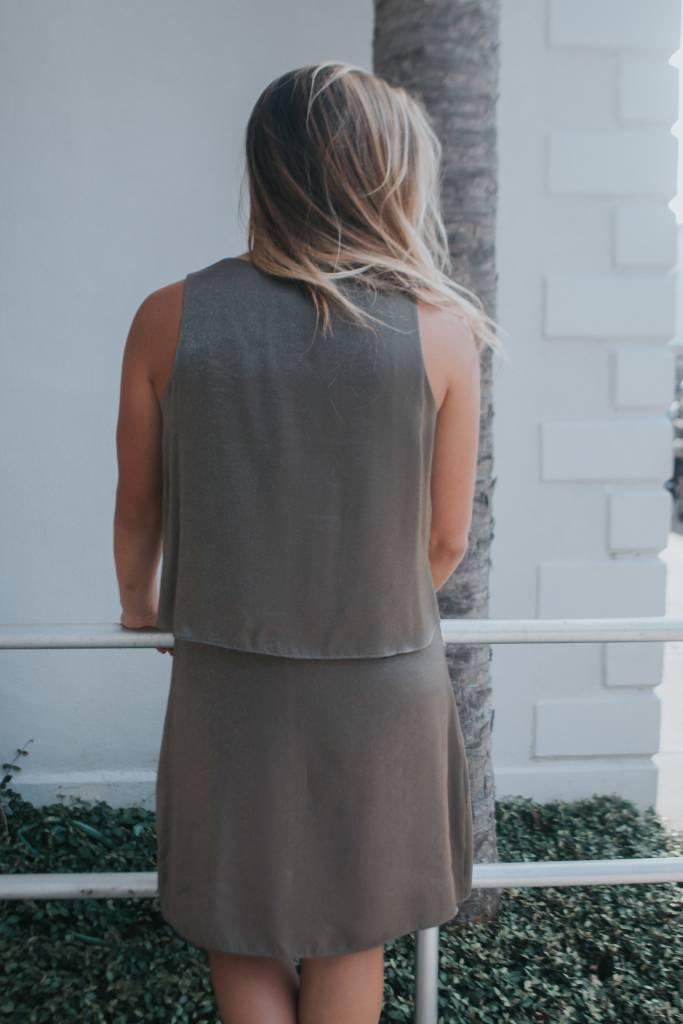 LOLA & SOPHIE SHIMMER TWILL VNK DRESS