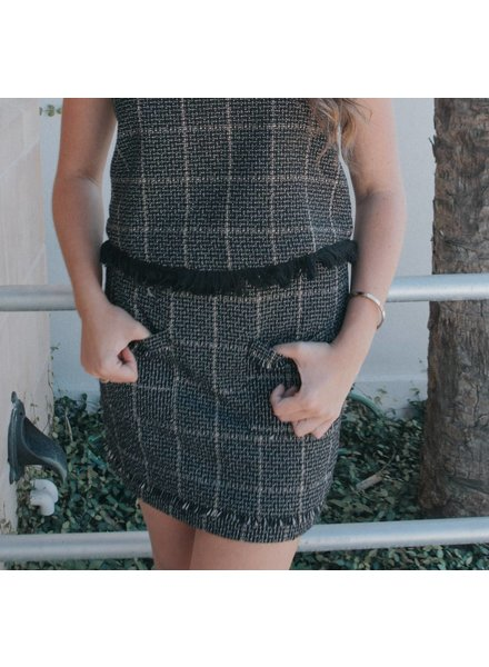 BISHOP+YOUNG TWEED MINI SKIRT
