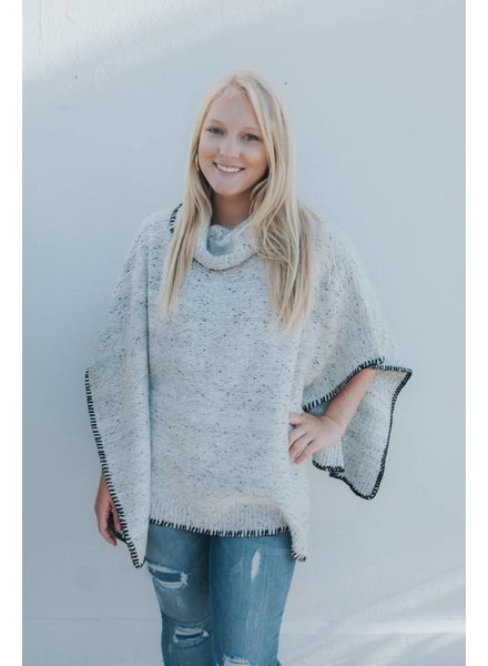 BISHOP+YOUNG DOLMAN SPECKLED SWEATER