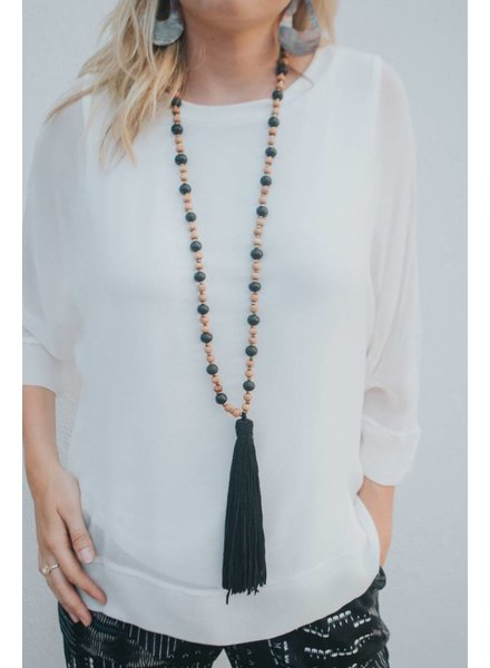 MARE.SOLE.AMORE MOROCCO NECKLACE #10 BLACK
