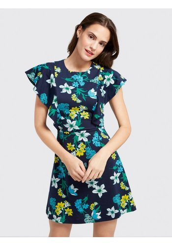 ELLISTON FLORAL RUFFLE DRESS