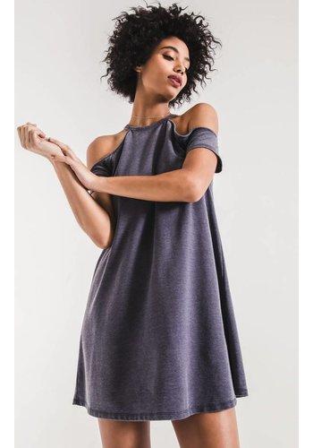 THE S/S COLD SHOULDER DRESS