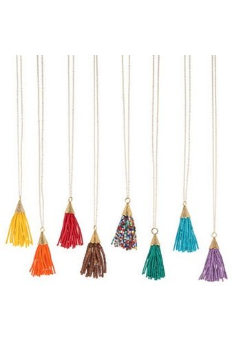 THE RAYNE BEADED TASSEL NECKLACE