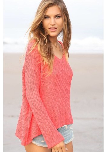 French Lace V-Neck Sweater