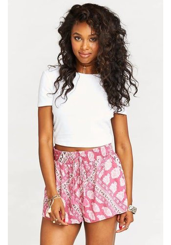 SERENA SMOCKED SHORTS
