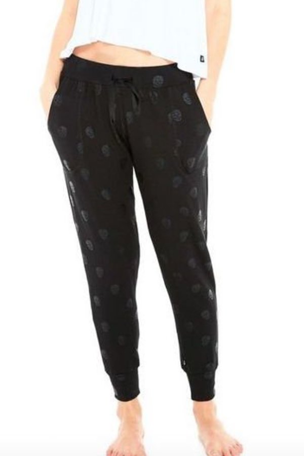 TEREZ Black Skull French Terry Joggers
