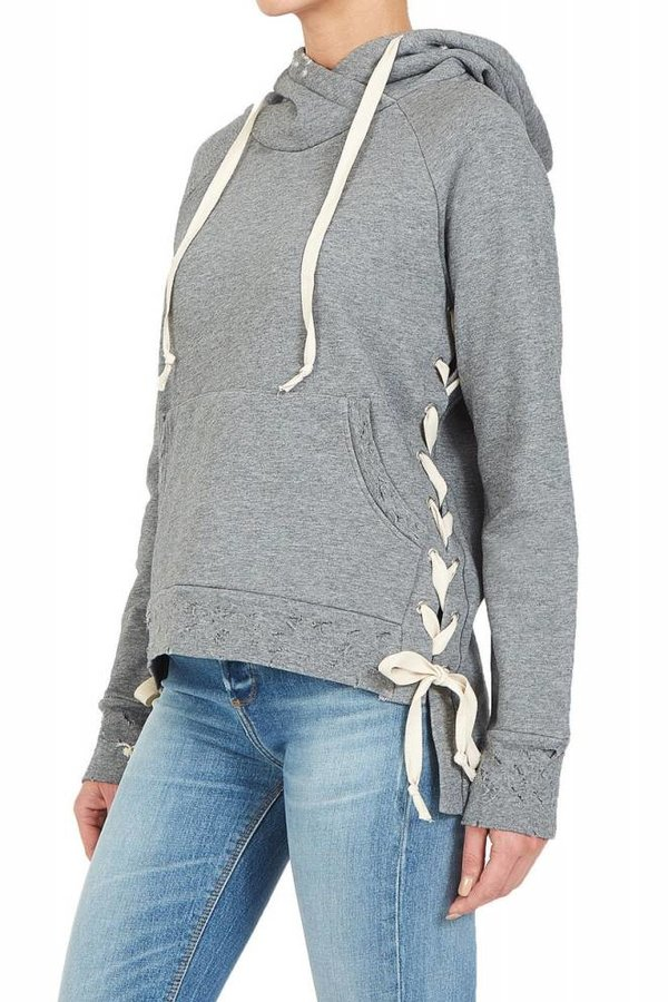 BLACK ORCHID Lace down Hoodie