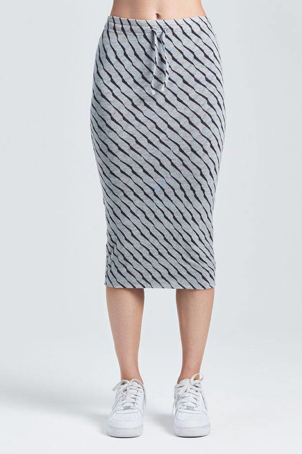 ZOE KARSSEN Scratch all over skirt
