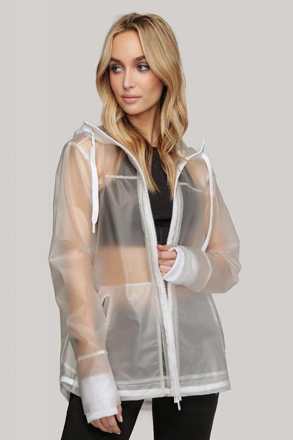 INDUSTRY Woven rubberized raincoat