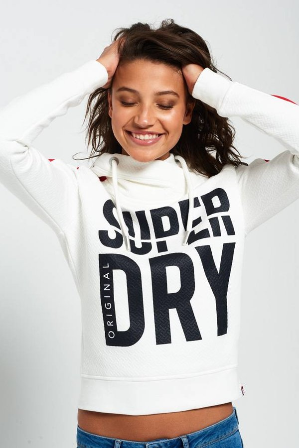 SUPERDRY Dimension panel sport crop hood