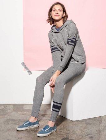 SUNDRY Athletic Stripe Hoodie