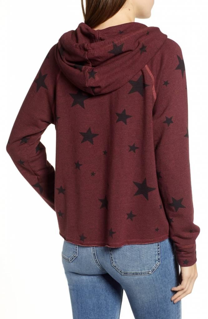 SUNDRY Stars Crop Hoodie