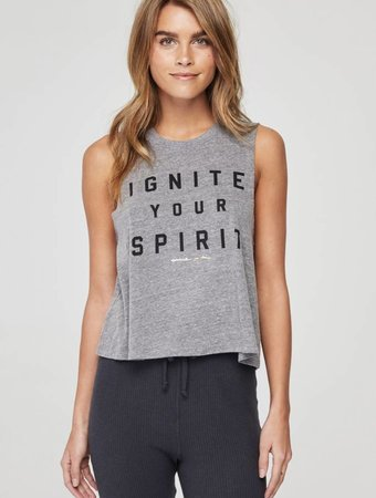 SPIRITUAL GANGSTER Ignite Crop Tank