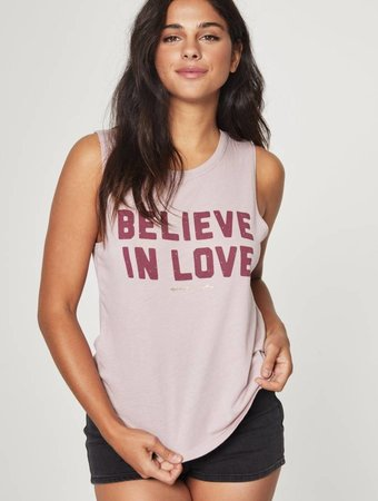 SPIRITUAL GANGSTER Believe in Love Muscle Tank