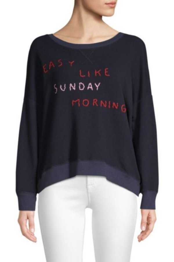 SUNDRY Easy Like Sunday Morning Sweatshirt