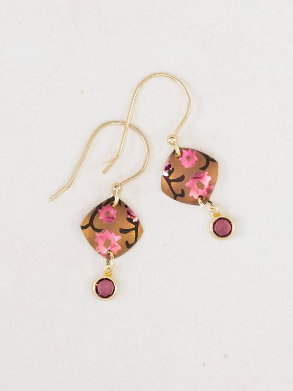 Holly Yashi Peachy Pink Aurora Earring