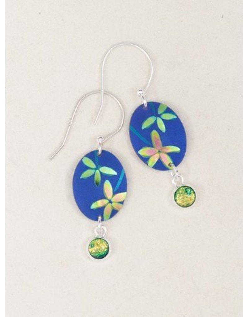 Holly Yashi HY Blue Firelight Earrings