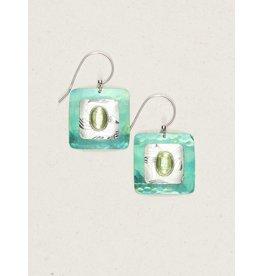 Holly Yashi Peridot/Green Georgie Earrings