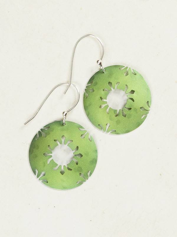 Holly Yashi Lime Petite Northern Lights Earring